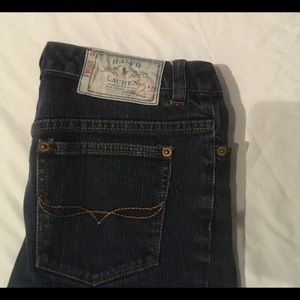 Ralph Lauren Skinny Denim Blue Jeans / Size 14